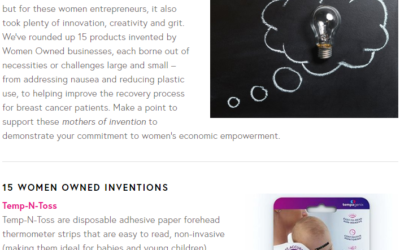 The Mothers of Invention: 15 Products Invented by Women Entrepreneurs